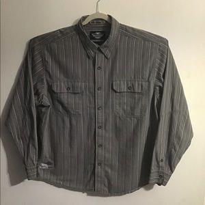 Harley-Davidson gray striped button down shirt.2XL